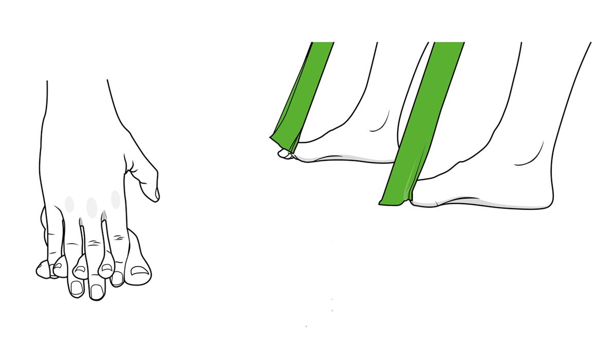 Ejercicios específicos para los dedos de los pies