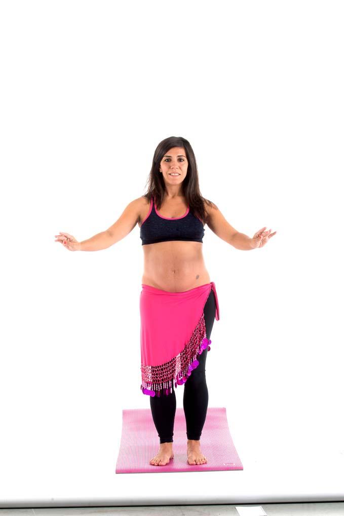 Danza del vientre para embarazadas: combinación de varios movimientos de pecho, hombros y cadera